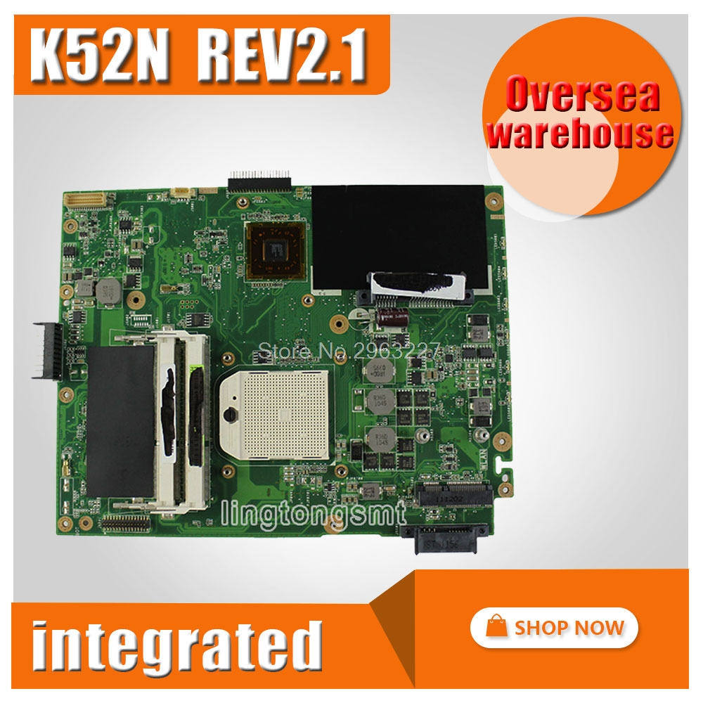 For Asus X52N A52N K52N Motherboard K52N REV2.1 Mainbord Socket s1 support processor Graphic HD4250 fully tested