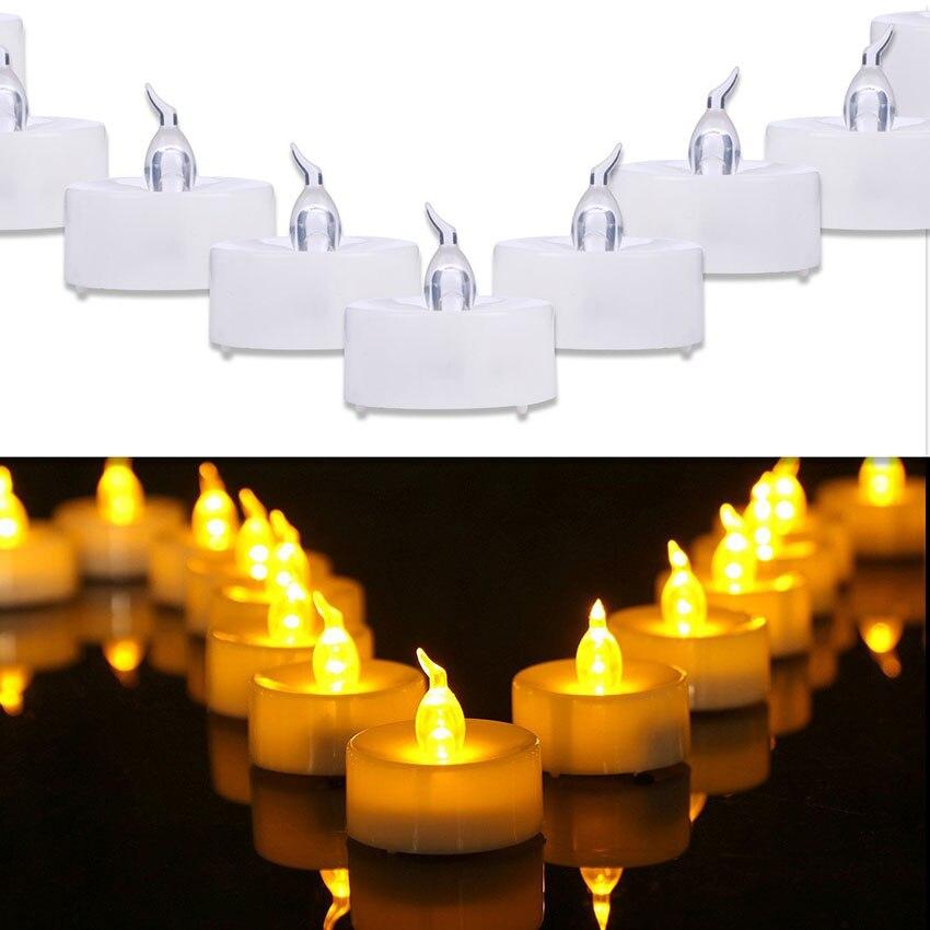 24 pçs flameless led chá luz velas