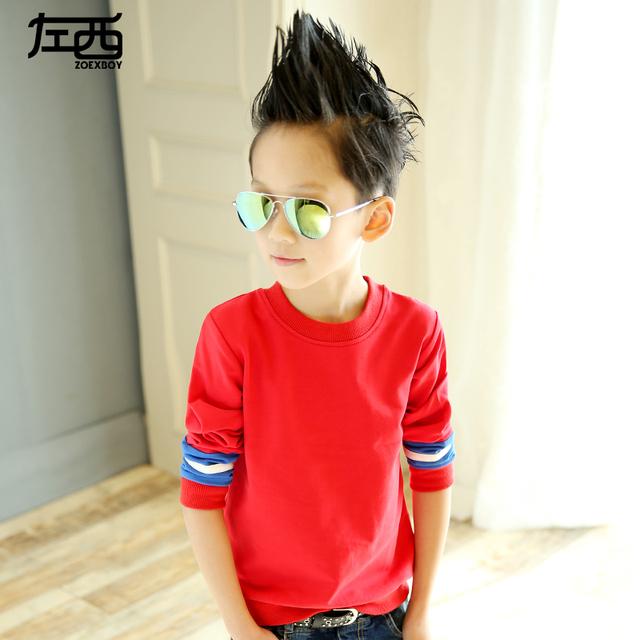 Niños clothing hijo varón sudadera de manga larga t-shirt básica del niño camisa niño primavera y otoño 2017 113