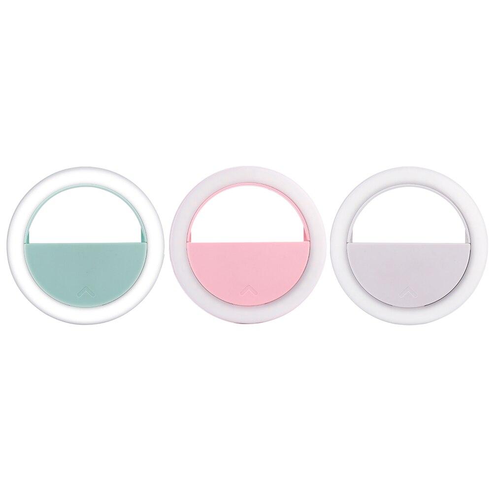Портативный USB зарядка Перезаряжаемые 40 светодиодной вспышке Selfie свет клип кольцо для iPhone Samsung смарт-мобильный телефон Красота Макияж огни