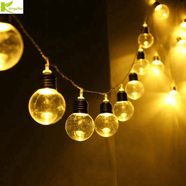 Kingoffer 20 Led Bulb Waterproof String Lights For Christmas Party Wedding Garland Ball Outdoor Lamp