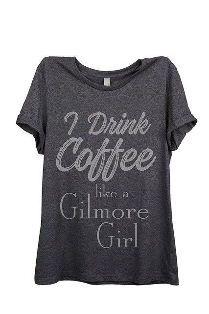 women t-shirt  Coffee Gilmore Girls Womens Relaxed T-Shirt Tee
