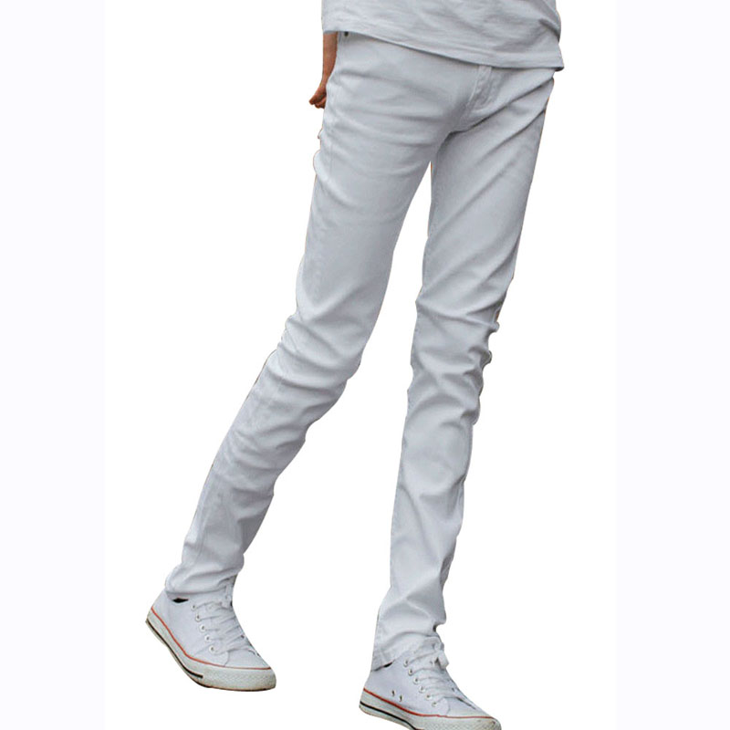 Funky Mens Fashion Skinny Jeans Pencil Pants Elastic