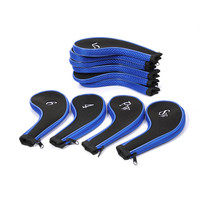 10 Pcs Golf Club Head Cover Iron Putter Headcover Protect Set Number Printed With Zipper