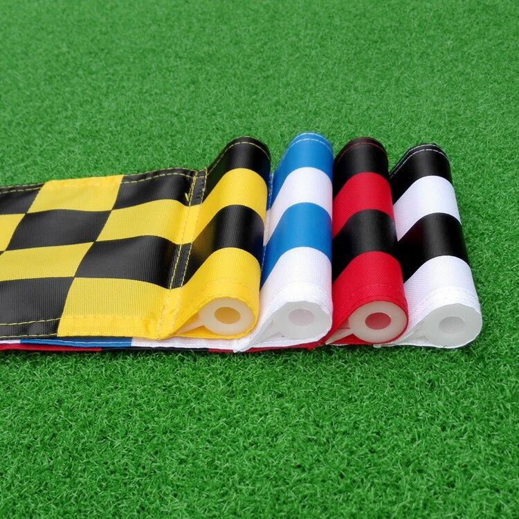 9 unids assored color y tamaño 51x36 cm tubo de banderas de golf