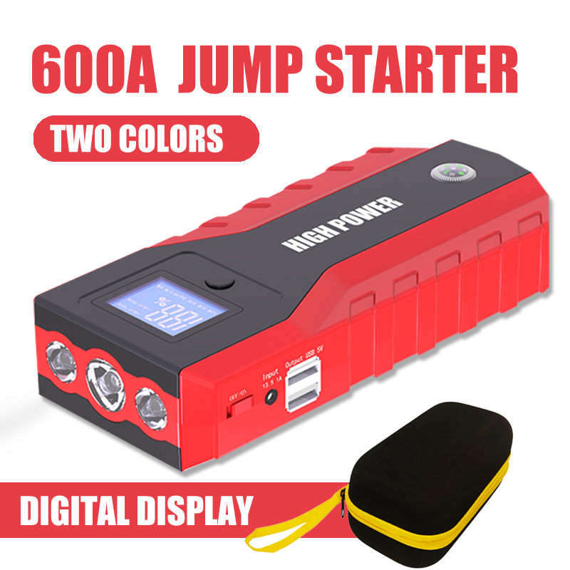 Super Capacity Car Power Bank Starting Device Portable 89800mAh 12V 600A Jump Starter Car Charger For Car Battery Booster Buster image