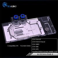 Bykski water block for Founders 1080TI/1080/1070/GTX TITAN XP/X Pascal /Leadtek NVIDIA full cover graphics card N TITAN PAS X