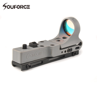 9 Brightness Control C MORE Adjustable Tactical Hunting Red Dot Sight Airsoft Hunting Collimator Sight Railway