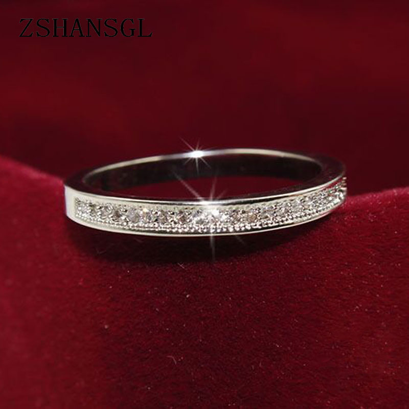 925 anillos de plata esterlina clásica alta calidad círculo claro deslumbrante CZ anillos geométricos apilables para mujer regalo de joyería de boda ATHENAIE genuino de Plata de Ley 925 abalorios Pave Clear CZ se adapta a todo encanto europeo pulsera auténtica joyería regalo