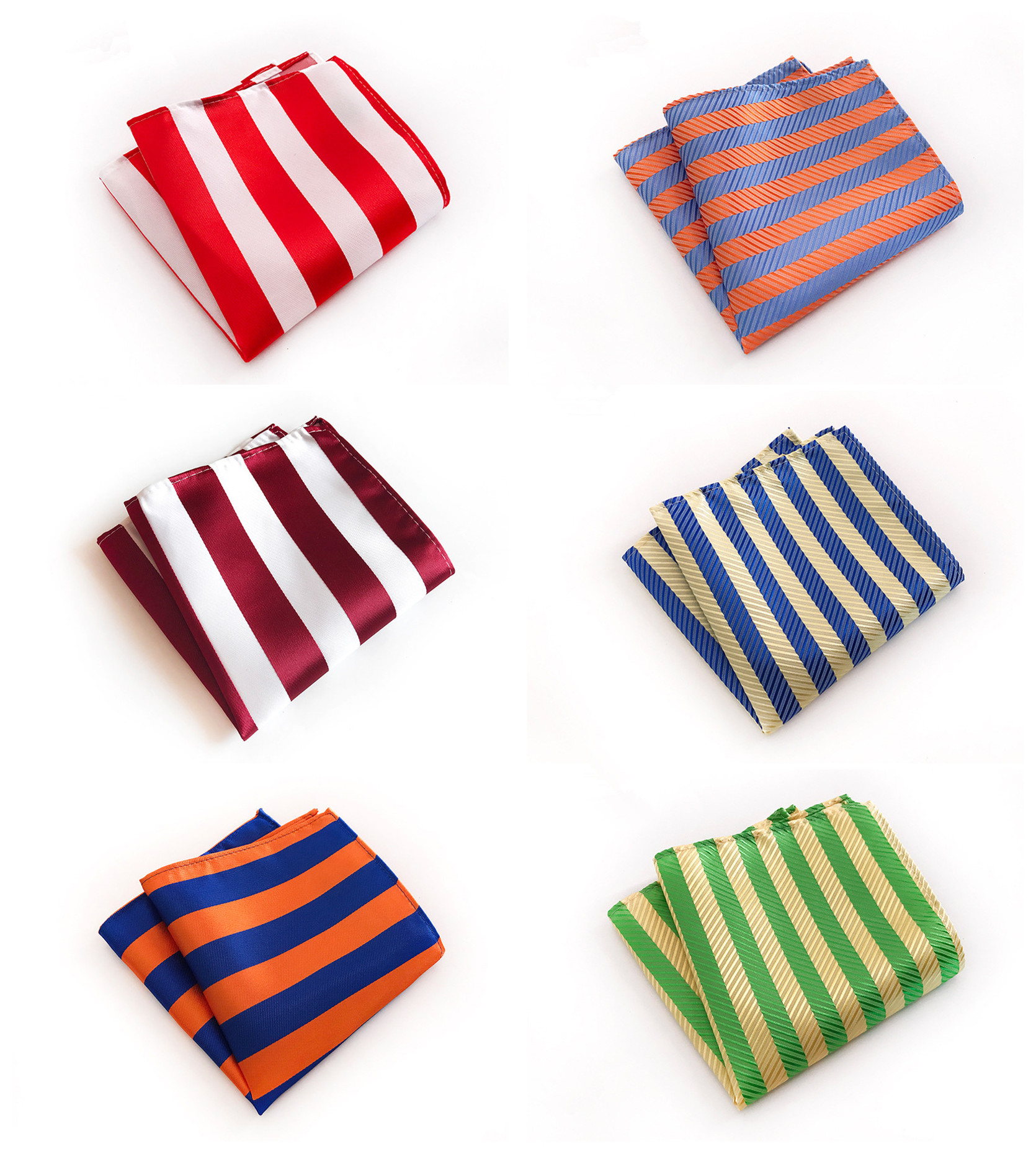 Men's Business Dress Multicolor Striped Pocket Towel Fashion Design Quality Explosion Models 25x25cm Polyester Pocket Towel