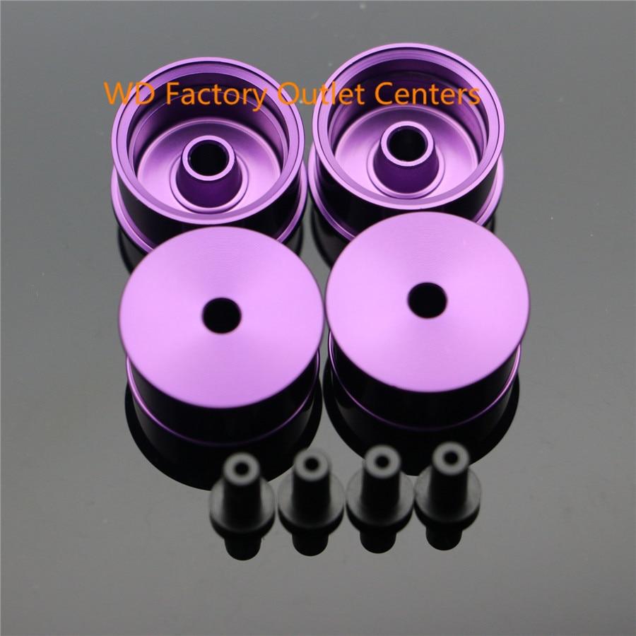RFDTYGR Mini 4wd Ruedas de diámetro medio Piezas hechas a sí mismo para Tamiya MINI 4WD Rueda de color con disco de aluminio L016 1Set / lot