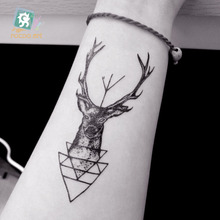 Body Art Sex Products Deer Head Men's Shoulder Finger Water Transfer Temporary Fast Flash Fake Tattoos Sticker Taty