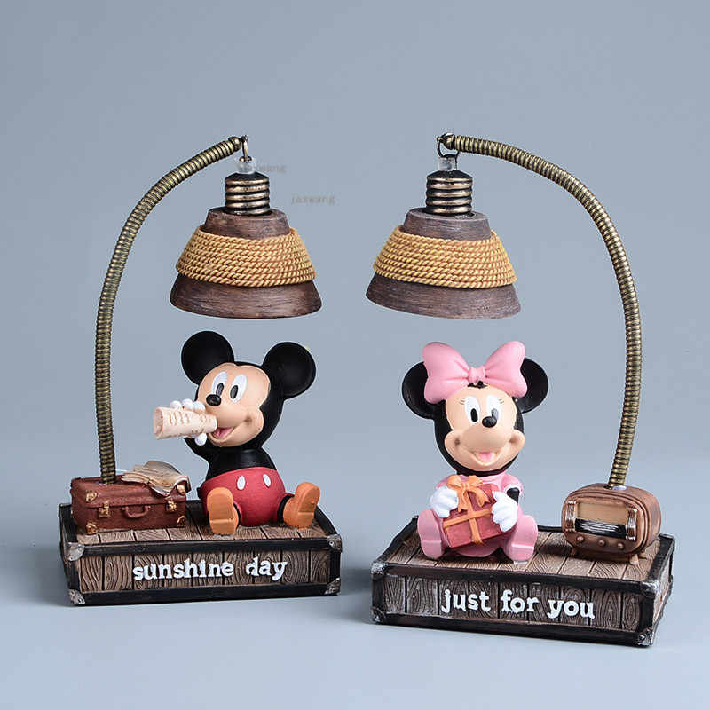 Nordic Mickey Mouse Resin Night Light Children Luminaria Night Lamp Lamps Lights Child Nightlight LED Lights Children's Room LOO
