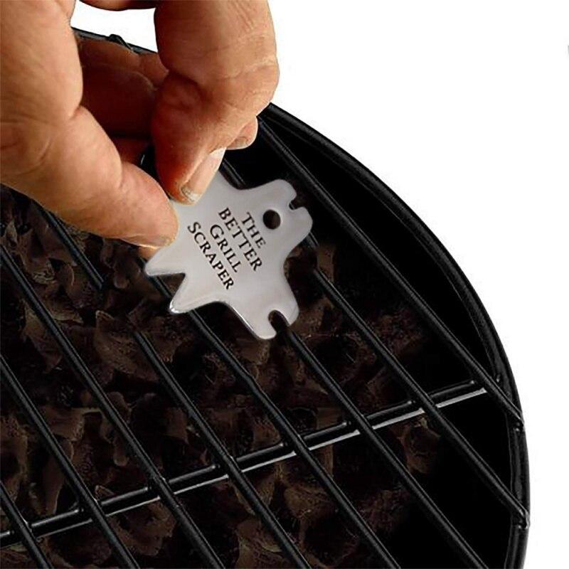 Нержавеющая сталь скребок для решетки для гриля серебро Инструменты для барбекю очистки барбекю аксессуары Щетинная кисть- гриль Кухня гаджет большое наполнитель