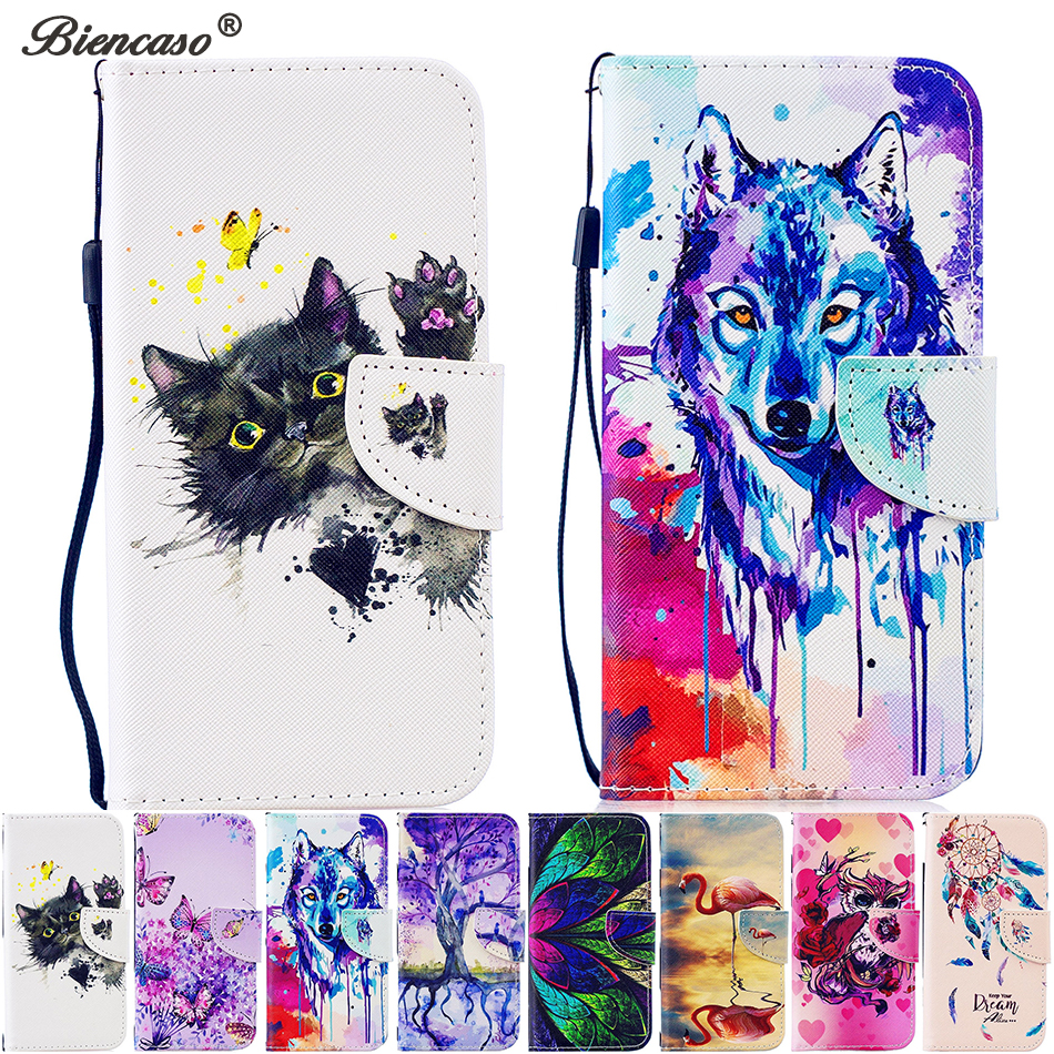 Cat PU Leather Wallet Flip Phone Case For Sony Xperia L1 XA1 Ultra XA2 XZ1 Back Cover For Redmi 4X 4A 5A Note 4 4X 5A Phone Bags