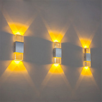 Modern 2W 6W Led LED Wall Sconce Night Light AC85 265V Brief Indoor Wall Acryl Aluminum