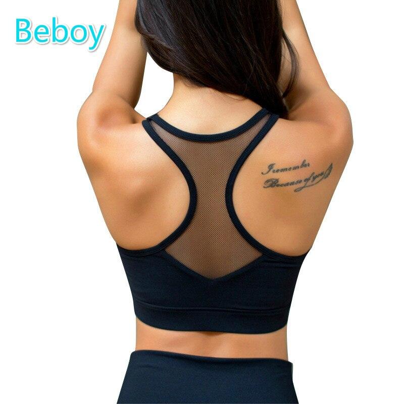 Prix pour Beboy Sexy Sport Bra Top Shakproof Rembourré Soutien-Gorge Sport Femmes Push Up Courir Gym Fitness Yoga Soutien-Gorge Sans Couture Soutien-Gorge De Compression gilet