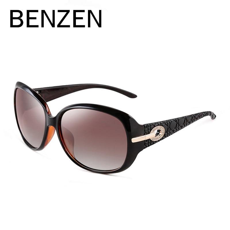 BENZÈNE Polarisées lunettes de Soleil Femmes Marque Designer De Luxe Strass Mesdames Conduite Lunettes de Soleil Femme Shades Avec la Boîte D'origine