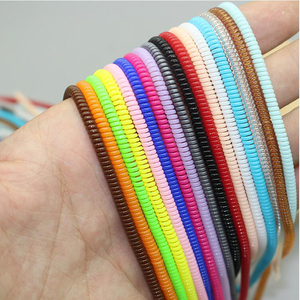 Image 4 - 60cm Colors Data Cable Protective Sleeve Spring twine For Iphone Android USB Charging earphone Case Cover Bobbin winder