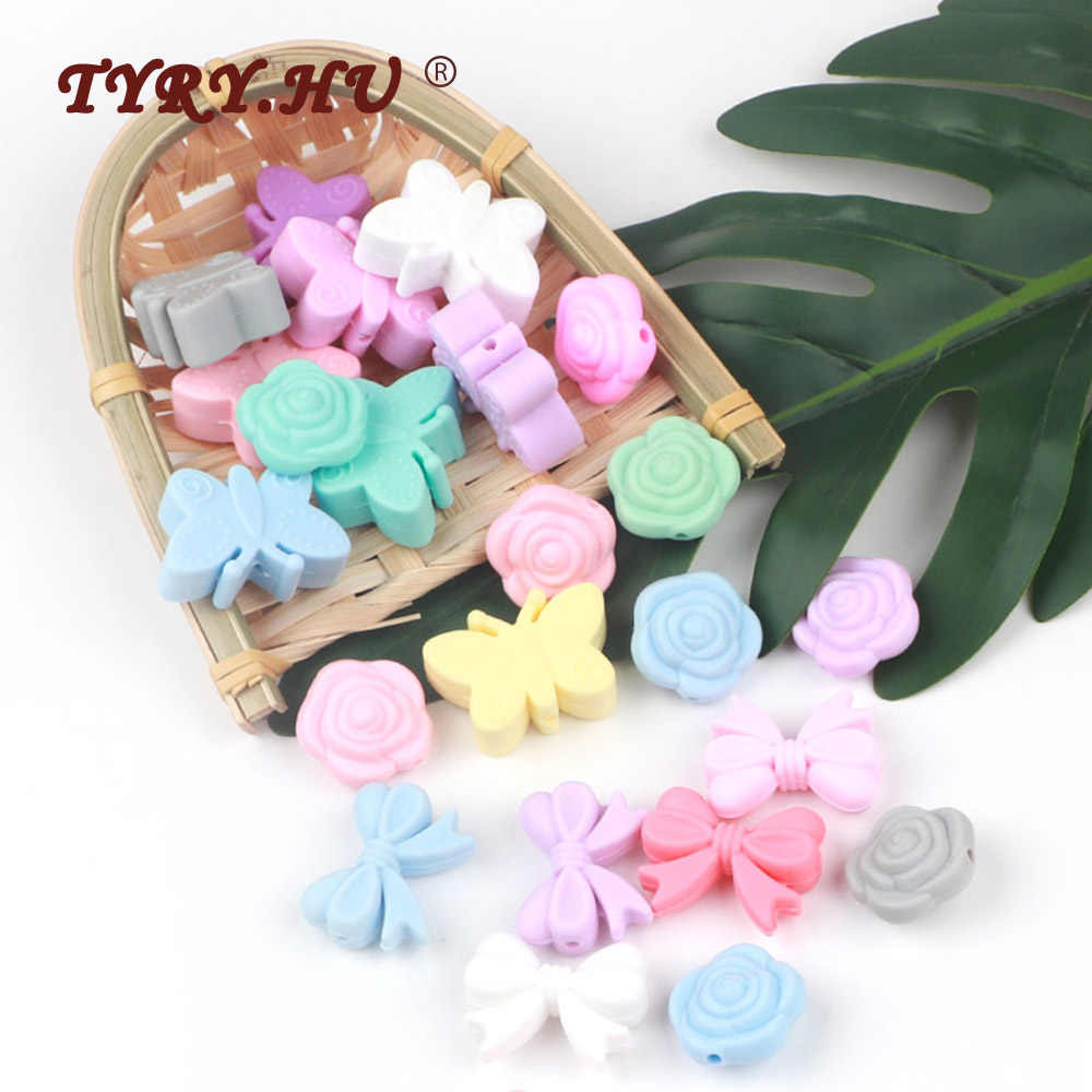 TYRY.HU 5pc Baby Teething Silicone Beads DIY Food Grade Silicone Rodent Toy Nurse Gift Accessories BPA Free silicone beads