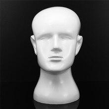 FRP maniquí cabeza resina blanco Hombre modelo Display Stand expositor para  pelucas sombrero bufanda gafas auricular muestra est. 9c0d24bf03f