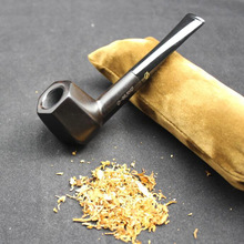 16 Tools Set Nature Handmade Ebony Wood Weed Tobacco Smoking Pipe Wooden Pipe + Pouch + Holder + 10pcs 9mm Pipe Filters D537Y