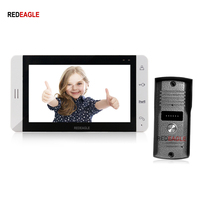 REDEAGLE Home 7 Color Video Door Phone Intercom TFT Touch Key Monitor 940nm IR Camera for Apartment Security Access system