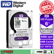 Western Digital WD Purple 6TB hdd NVR system sata 3.5 Surveillance internal hard disk security systems disque dur desktop server