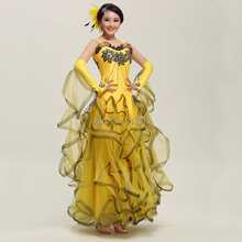 New arrival Modern dance ballroom costumes, waltz, tango competition costumes, ballroom dress