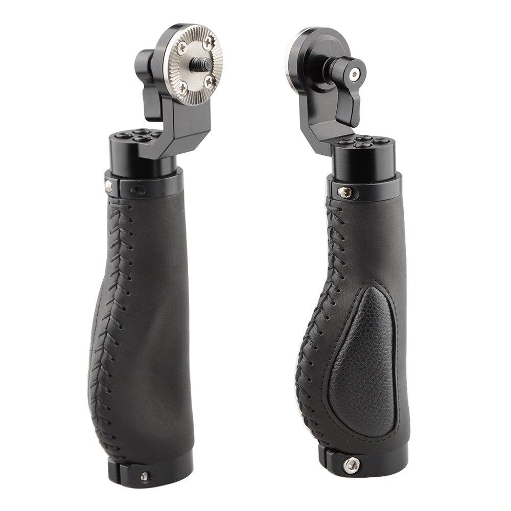 CAMVATE Camera DSLR Cage Handle Grip Aluminum Leather Rosette for ARRI Style Shoulder Support System Fotografica
