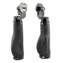 Camvate câmera dslr gaiola alça de alumínio couro roseta para estilo ombro sistema suporte kit fotografica c1446