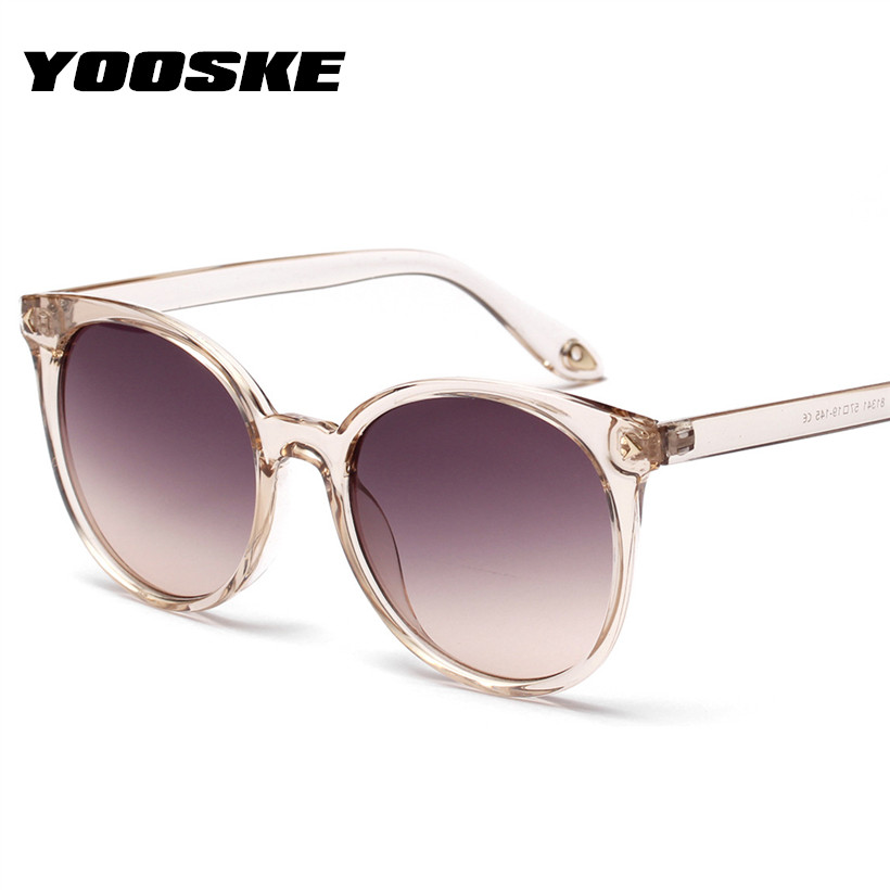 YOOSKE Round Sunglasses Shades For Women Sun Glasses Ladies Vintage Mirror Lens Gradient Eyewear UV400