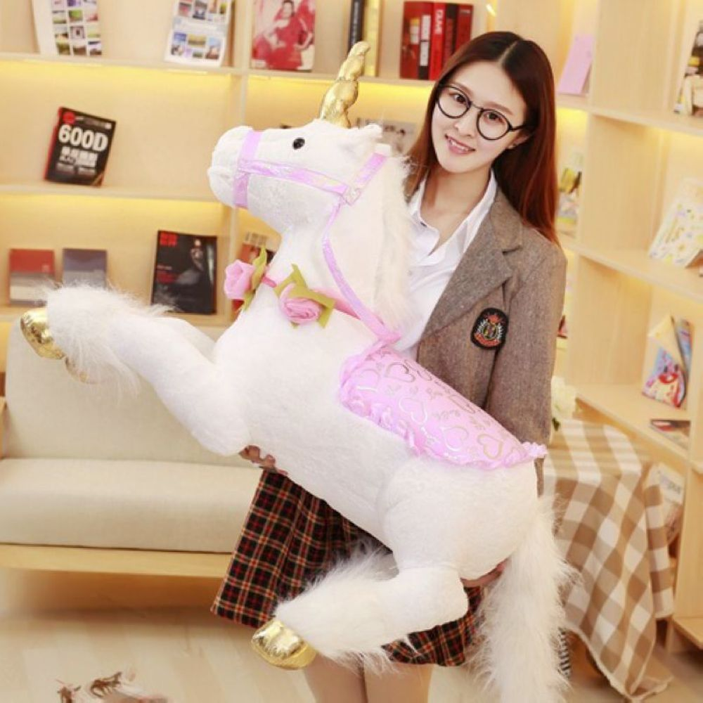 Fancytrader 100cm Jumbo Giant Plush Unicorn Toy Soft Stuffed Horse Animal Home Decoration Children Photograph Prop Great Gift fancytrader biggest in the world pluch bear toys real jumbo 134 340cm huge giant plush stuffed bear 2 sizes ft90451