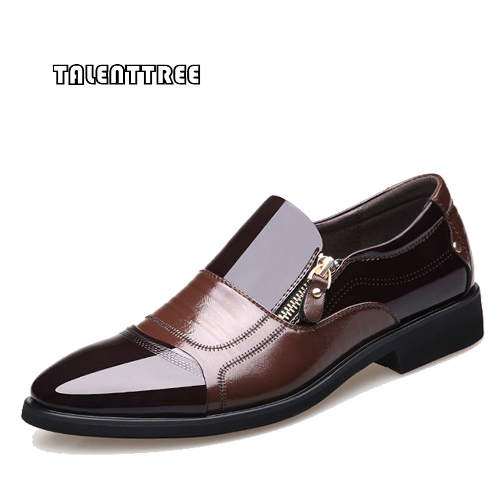 New Men Shoes Spring Fashion Oxford Business Men Shoes Genuine Leather High Quality Soft Casual Breathable Men's Flats Zip Shoes 2016 new high quality genuine leather men business casual shoes men woven breathable hole gentleman shoes brand taima 40 45