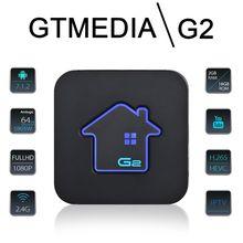лучшая цена GTMEDIA G2 Android 7.1 Smart TV BOX 2G DDR3 16G EMMC ROM Set Top Box 4K 3D H.265 2.4G Wifi media player TV Receiver play store