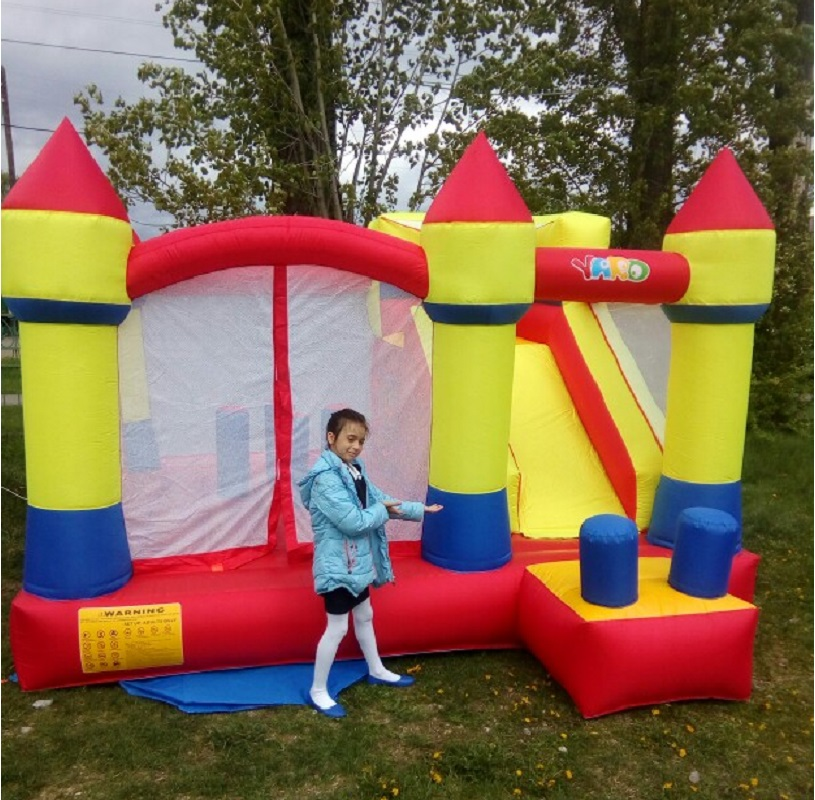 YARD Bouncy Castle outdoor inflatable Recreation Large Size Inflatable Slide Trampoline For Kids Jumping Castle Bounce House Hot giant super dual slide combo bounce house bouncy castle nylon inflatable castle jumper bouncer for home used
