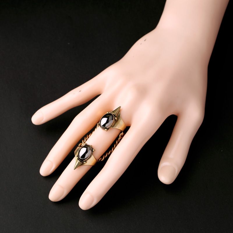 unique alloy nightclub joker gold plated rings set online store wholesale knuckle rings new design