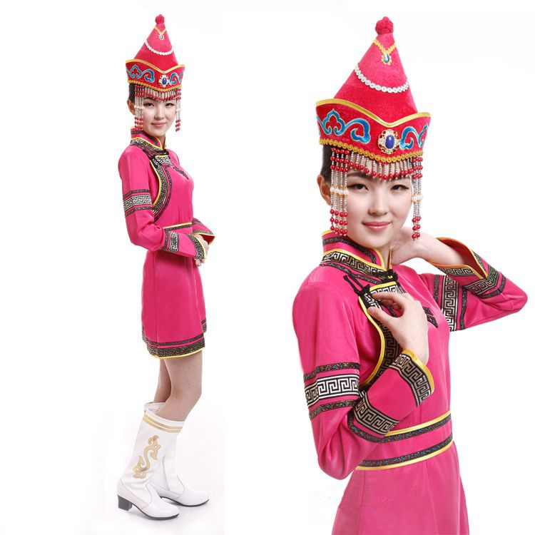 ed4d3c3e6f7a Go shopping for best price chinese mongolia dress for women red mongolia  costumes chinese minority clothing festival dance costumes party costume.