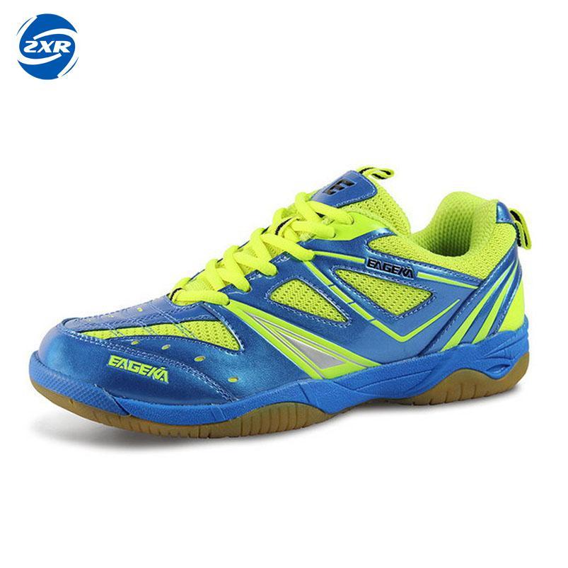 Printemps hommes et femmes en cuir chaussures de sport athlétique chaussures à lacets en caoutchouc résistant chaussures de badminton respirant taille 35-45