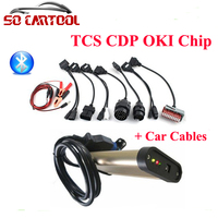 TCS CDP Pro Full Oki Chip With Blutooth And 8 Pieces Car Cables For AUTO COM