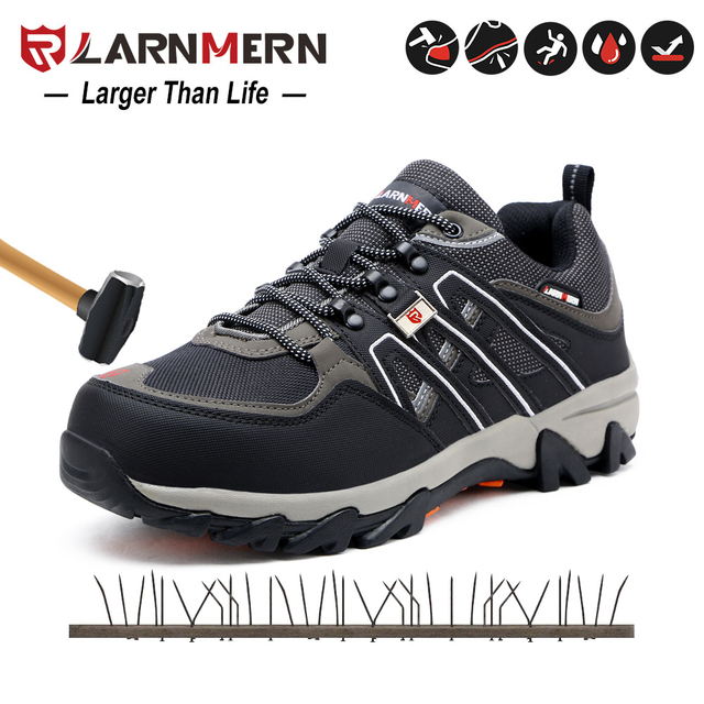 Men Steel Toe Construction Work Shoes Puncture Proof Breathable Safety Shoes With Steel Toe Cap