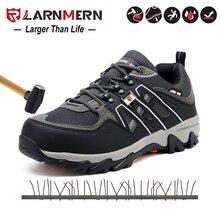 Sapatas respiráveis da segurança da prova da punctura das sapatas do trabalho da construção do dedo do pé do aço dos homens com tampão de aço do dedo do pé