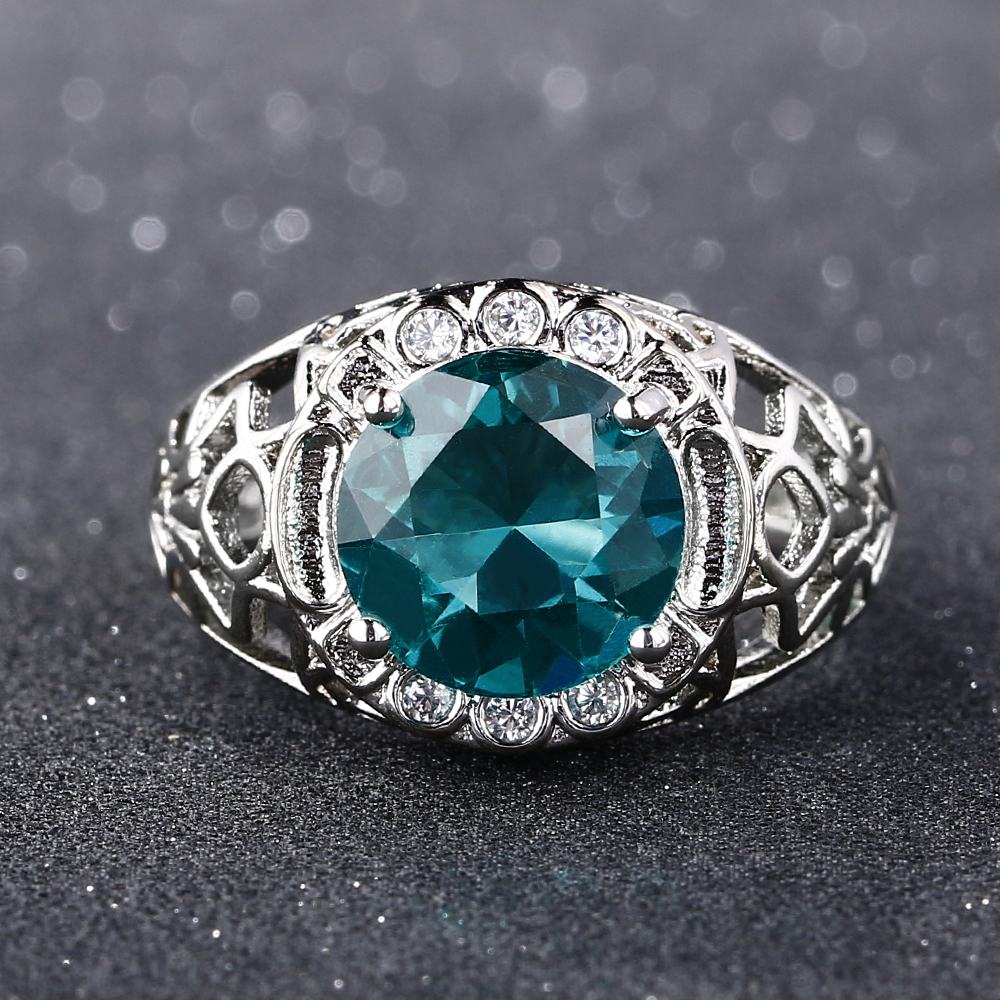 Bague Ringen Vintage 100 925 Sterling Silver Created Alexandrite Gemstone Rings For Women Party Anniversary Fine