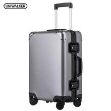 UNIWALKER 20 »24» Rolling Чемодан 100% Алюминий унисекс путешествия тележка чемодан Spinner колеса TSA пароль замки нести сумку