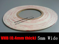 0 4mm Thick 5mm 33M Strong VHB White Two Adhesive Foam SpongeTape For Phone Screen