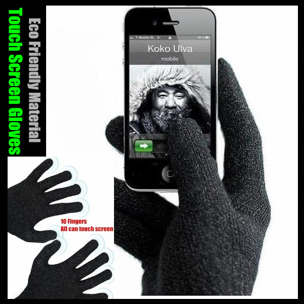 1 pairs! Big Yards 10 Fingers Eco Friendly Material Capacitive Touch Screen Gloves for iPhone for iPad,High Sensitivity&Elastic