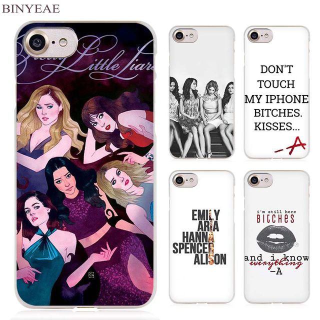 big sale 85c24 d22ba US $1.91 34% OFF|BINYEAE Pretty Little Liars simple Clear Cell Phone Case  Cover for Apple iPhone 4 4s 5 5s SE 5c 6 6s 7 7s Plus-in Half-wrapped Case  ...
