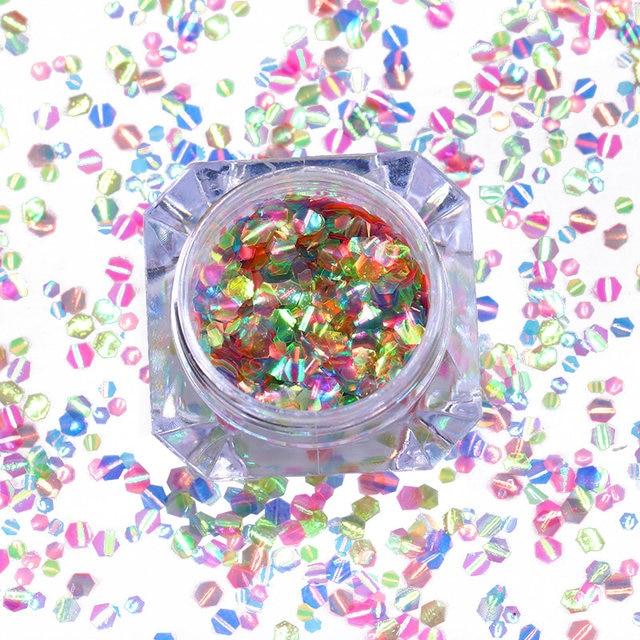 Tienda Online Sirena Escalas Clavo del Hexágono Glitter Lentejuelas ...