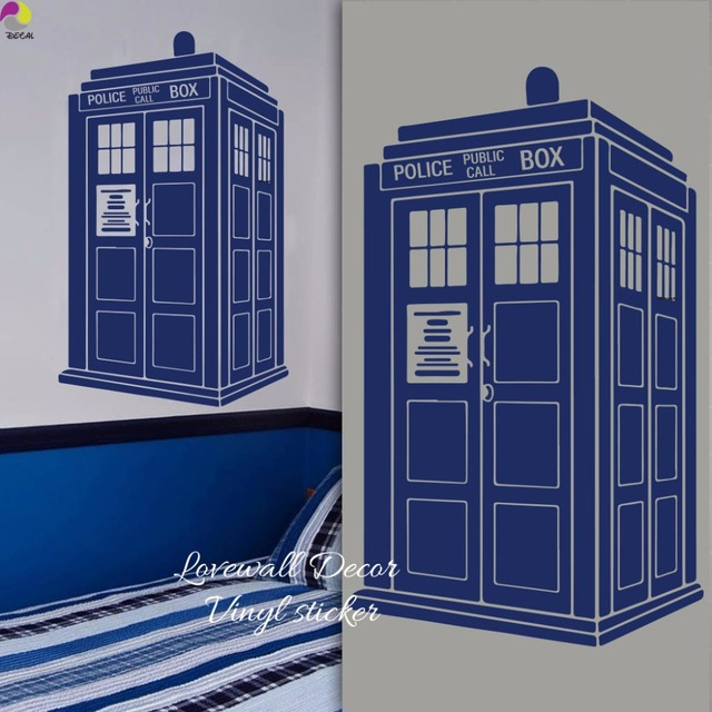 Tardis Wall Sticker Kids Room Baby Nursery Doctor Who Style Wall Decal  Living Room Police Box