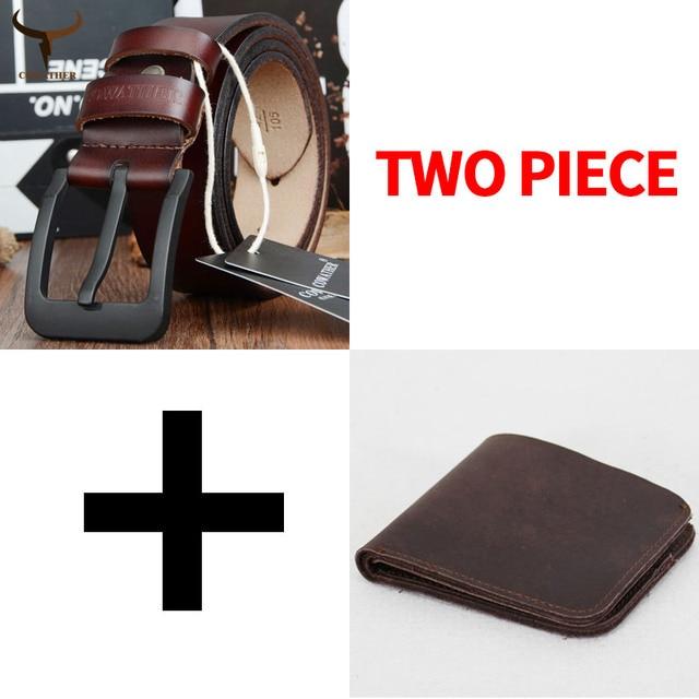 Cinto e carteira conjunto COWATHER para homens top quality bolsa vaca genuína cinta masculina terno dos homens da moda cinto e carteira definir frete grátis